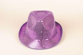 Блестящая шляпа фиолетовая