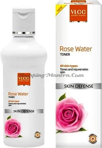 Освежающий тоник для лица с лепестками роз VLCC Rose Water Toner