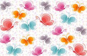 Водорастворимая бумага с рисунком Фон бабочки 216х139мм