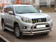 Защита переднего бампера 76х60х43 мм для Toyota Land Cruiser Prado 150 2010