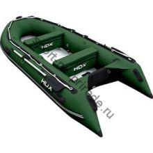 Лодка HDX надувная, модель OXYGEN 370 AL, цвет зелёный