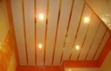 """Комплект реечного потолка """"Бард"""" 2х2 м. (белый глянец, золото зеркальное)"""