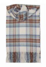 кашемировый шарф (100% драгоценный кашемир) , расцветка  клан Стюартов-Небесный вариант CASHMERE STEWART BLUE DRESS
