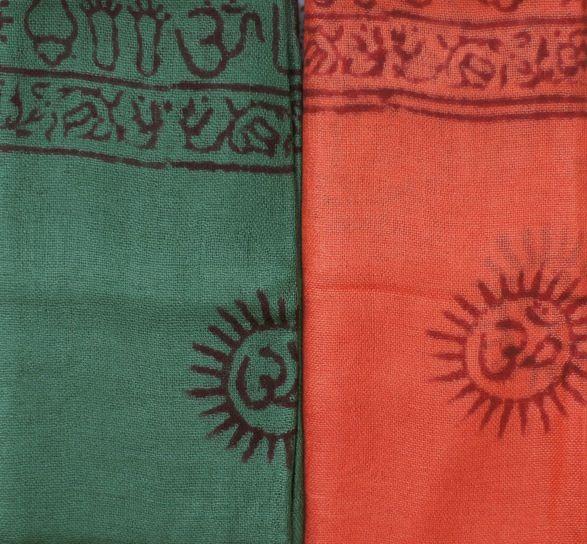 Индийский хлопковый шарф с омчиками (отправка из Индии)