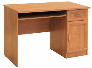 №129. Компьютерный стол с тумбой  760x1200x600мм ВxШxГ