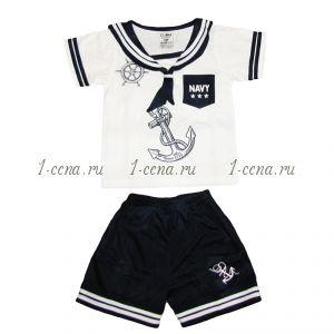 Костюм для мальчика МОРЯЧОК шорты+футболка.