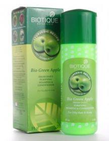 Шампунь с кондиционером для нормальных и жирных волос Зеленое яблоко (Bio Green Apple,BIOTIQUE) 210мл