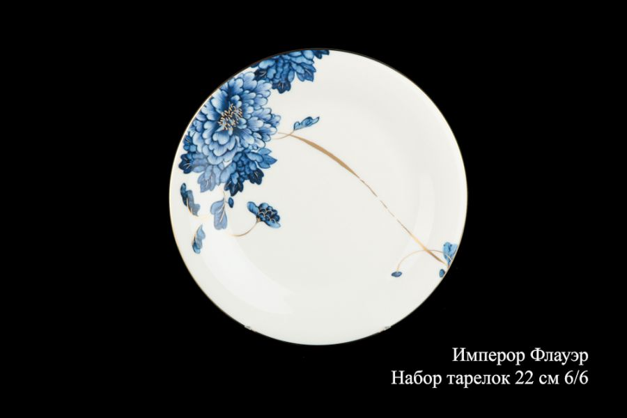 "Набор тарелок 22см. 6/6 ""Имперор флауэр"""