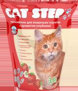 Cat Step Впитывающий силикагелевый наполнитель с ароматом клубники (3,8 л)