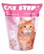 Cat Step Sacura Впитывающий силикагелевый наполнитель (3,8 л)