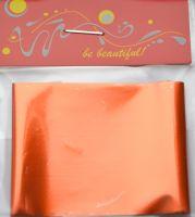 Фольга для дизайна ногтей, литья (переводная). Цвет: глянцевая терракотовая (Размер: 4см на 1 метр)