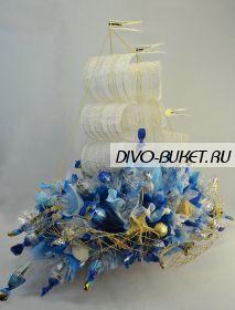 """Корабль из конфет №171 """"Фортуна"""""""