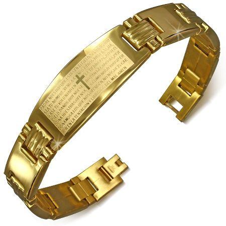 Позолоченный браслет с молитвой