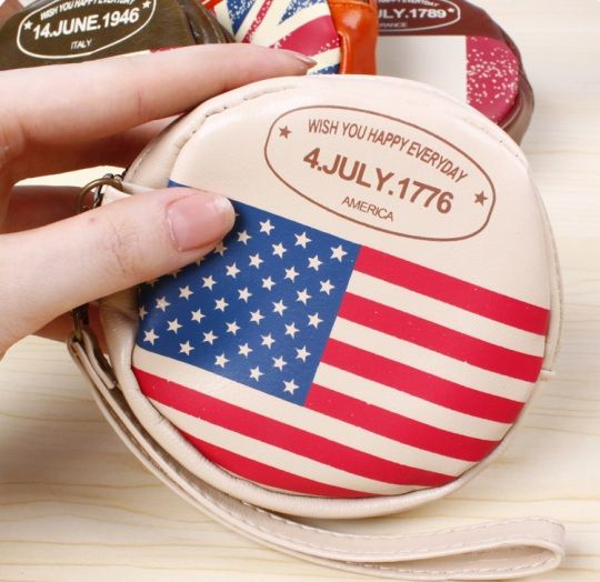 "Кошелек для мелочи ""Round Flag"" - America"