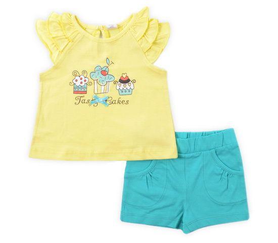 Комплект для девочки: блузка и шорты