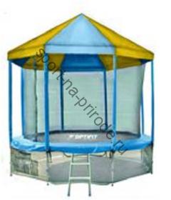 Батут OPTIFIT 10FT Like Blue с сеткой, лестницей и крышей