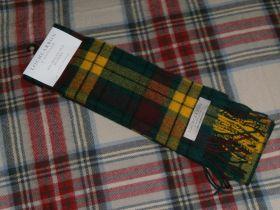 шарф 100% шерсть , расцветка клана Макмиллан.