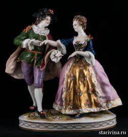 Пара на балу, Ludwigsburg, Германия, 19 век