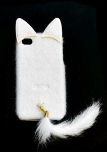 Накладка Apple iPhone 4/4S Кошка (white)