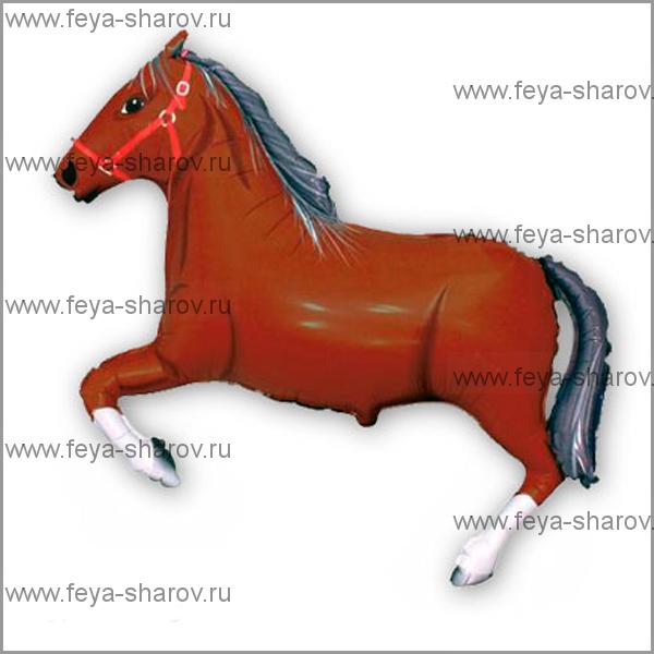 Шар фольгированный Лошадь 90 см