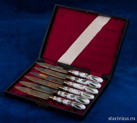 Набор из 6 десертных ножей в кофре, Германия, 1920-30 гг