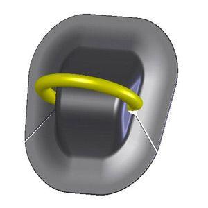 Рым-кольцо на надувную лодку ПВХ универсальное