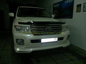 Аэродинамическая накладка на передний бампер (губа) для Toyota Land Cruiser 200 2012