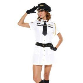 Белый костюм  стюардессы