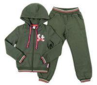 Зеленый спортивный костюм для девочки
