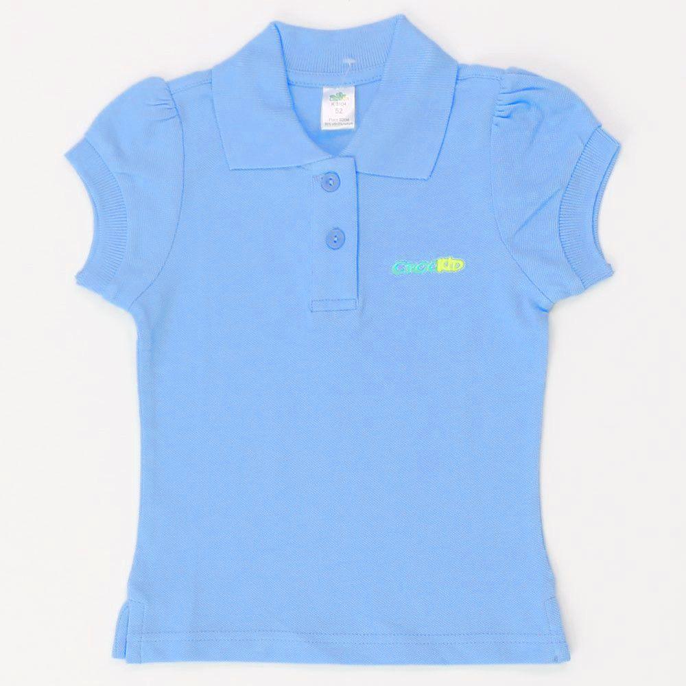 Голубая блузка Crockid для девочки