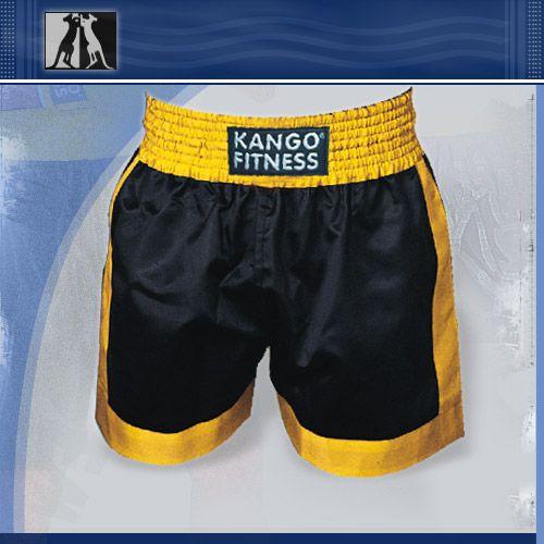 Шорты боксерские черно-желтые, артикул 6902, размер М, KANGO