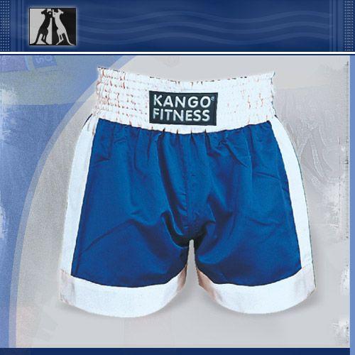 Шорты боксерские сине-белые, артикул 6901, размер L, KANGO