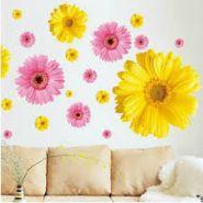 """3D наклейка стикер на стену """"желтый цветок"""""""