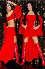 Длинное платье  чертовки