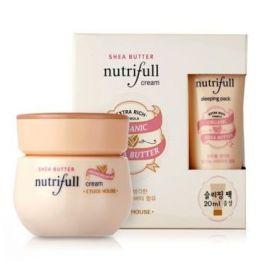 ETUDE HOUSE NUTRIFULL SHEA BUTTER CREAM 50ml+20ml - высокопитательный крем с маслом ши + ночная маска