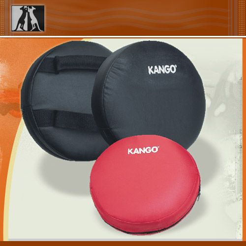 Лапа боксерская, круглая, черная, иск. кожа, артикул 8306, KANGO