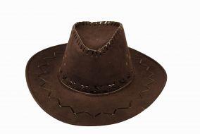 Шляпа ковбоя темно-коричневая