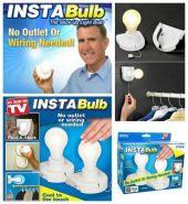 Лампа Инстабалб (Insta Bulb) без подключения к электросети!