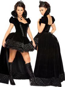 Карнавальный костюм королевы в черном