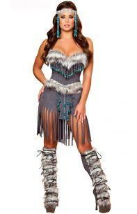 Костюм индейской девушки с бахрамой