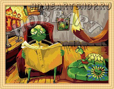 """Картина по номерам """"Рассказы старой черепахи"""" 30х40"""