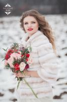 Свадебная шубка из кролика прокат в Москве фото