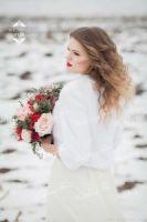 Свадебная шубка из норки для невесты аренда москва фото