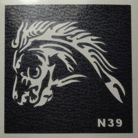 Трафареты для боди-арта, био-тату  N39