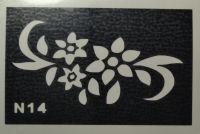 Трафареты для боди-арта, био-тату  N14