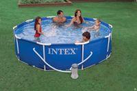 каркасный бассейн с фильтр-насосом