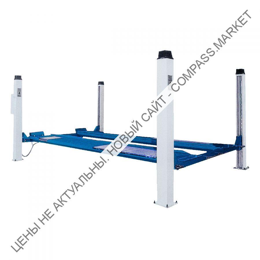 Подъемник четырехстоечный, г/п 4000 кг., платформы для сход-развала, Werther-OMA (Италия)