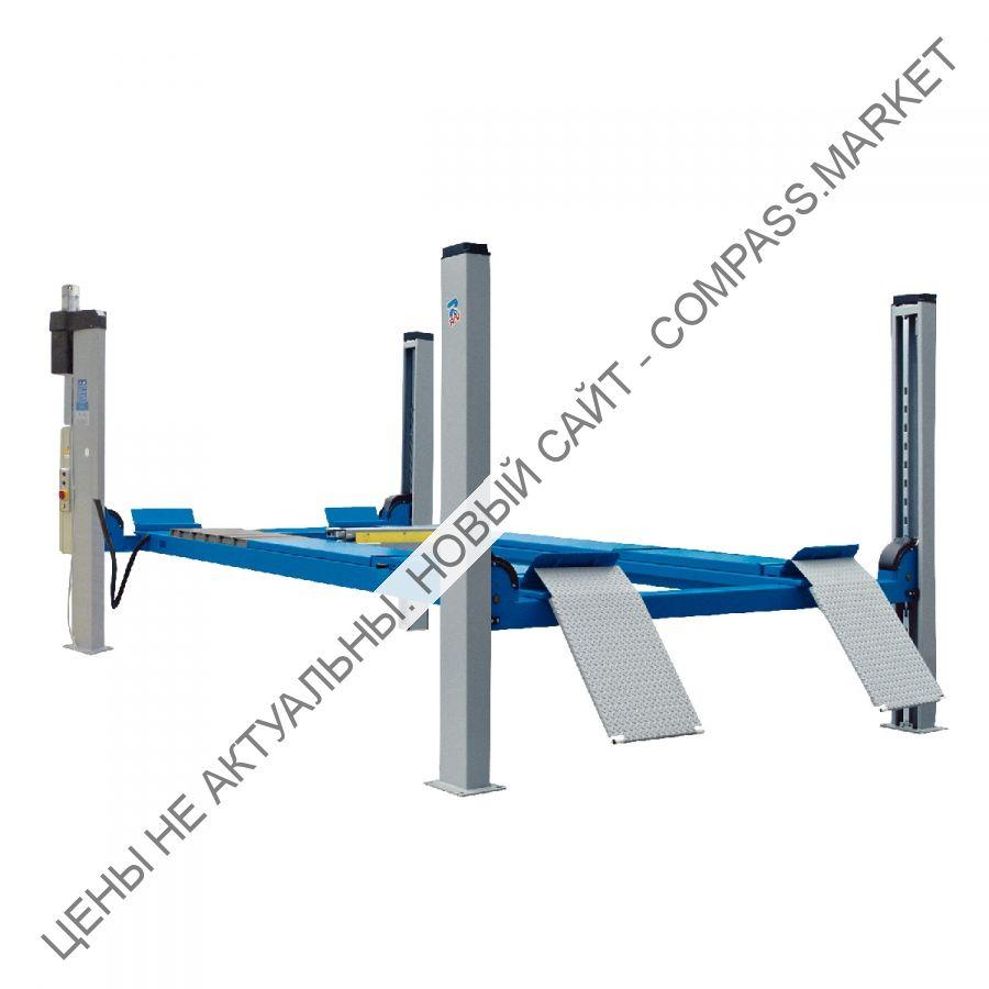 Подъемник четырехстоечный, г/п 4000 кг., платформы для сход-развала, Ravaglioli (Италия)