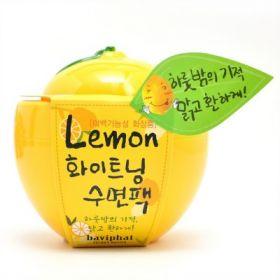 BAVIPHAT LEMON WHITENING SLEEPING PACK 100g - ночная отбеливающая маска с экстрактом лимона