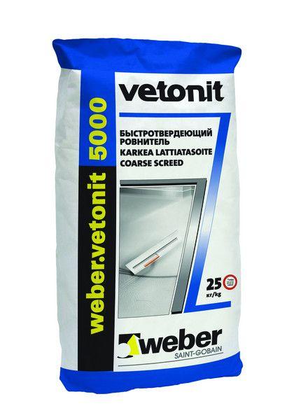 Ровнитель для пола быстротвердеющий Weber.Vetonit 5000, 25 кг